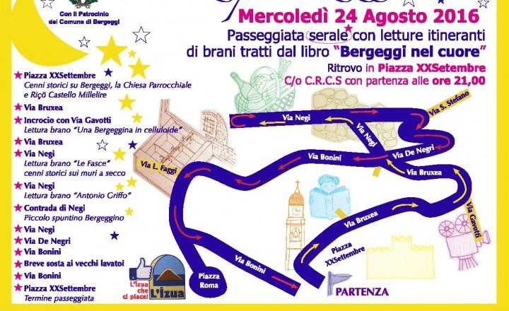 """MERCOLEDI' 24 AGOSTO PASSEGGIATA SERALE """"Sciü e zü pe Berzezzi"""""""