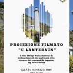 """Sabato 16 marzo 2019 ore 16,00 proiezione di filmato """"U Lanternìn"""" presso Biblioteca"""